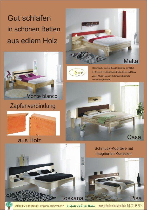 wahre Meisterwerke - edle Betten aus Holz