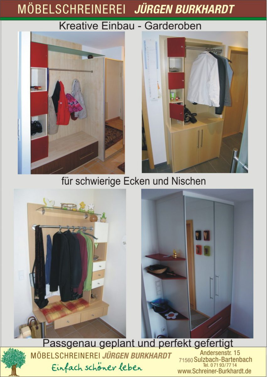 garderobe archive schreinerei burkhardt. Black Bedroom Furniture Sets. Home Design Ideas