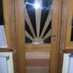 Holzhaustüre mit tollem Design
