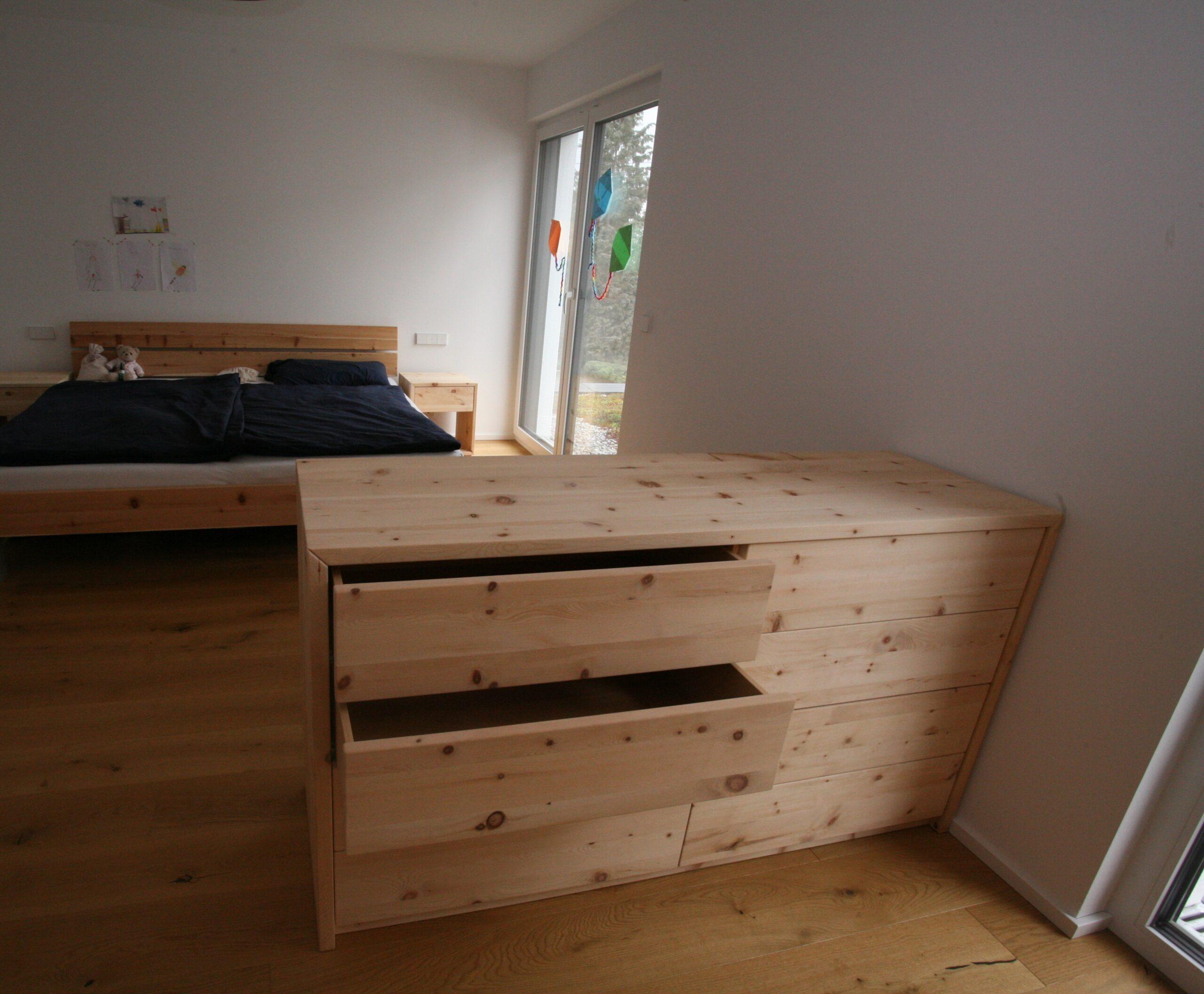 kommode schlafzimmer zirbe
